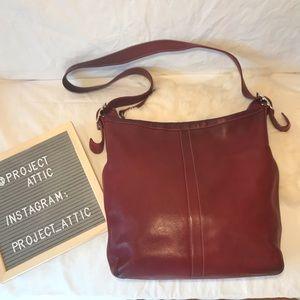 Coach Oxblood Legacy Hobo Duffle bag Red Leather